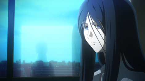 Her blindness and the view from the hospital are emphasized throughout her discussion with Touko.