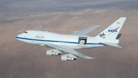 I couldn't mention atmosphere (let alone stratosphere) without including a reference to SOFIA, the Stratospheric Observatory for Infrared Astronomy. It's a telescope in a plan, yo.