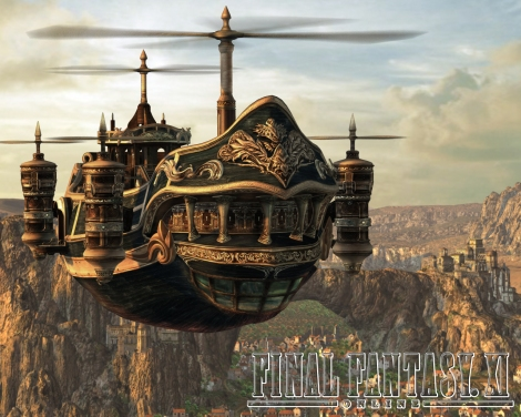 The steampunk influnces of FF seem apparent in the design of the airship we see  early on in the series.