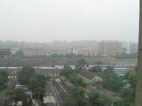Here's the view of Beijing from hotel my friend and his dad were staying at.