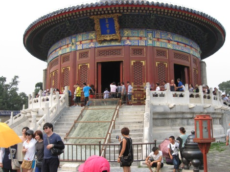 "The huge crowds at the Temple of Heaven (shown in part above), for instance, was completely different fro a decade ago, when the place was deserted. The increased tourism is most likely a good sign of an increasing standard of living, but still a bit off-putting if you're hoping for a more ""personal"" experience."