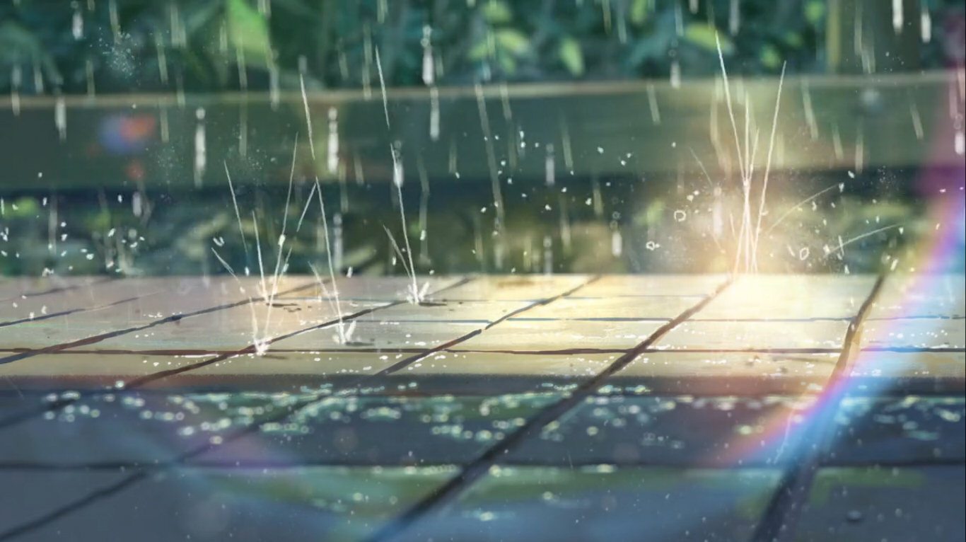 Back of the envelope makoto shinkai and weather for Jardin anime