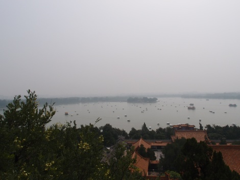 Here's the view of the grounds of the Summer Palace, essentially China's version of Versailles (that actually was burnt down by the French and subsequently reconstructed).