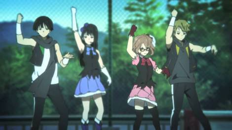 Like Kyoukai no Kanata's idol gag, for instance.