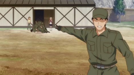 Clever use of the JSDF, as it appeals to military otaku while also making an interesting, possibly political, statement.