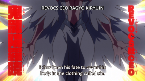 For instance, there's a lot of Christian motifs thrown around by Ragyo.