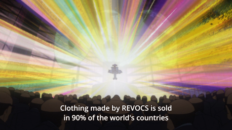 Ragyo is strongly linked to gross capitalism (both in ideology and in position as the head of REVOCS), often a symbol of the West.